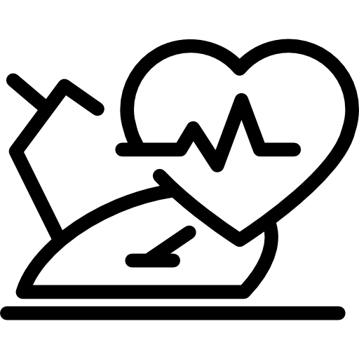 Flip drawing heart. Monitoring rate icons free