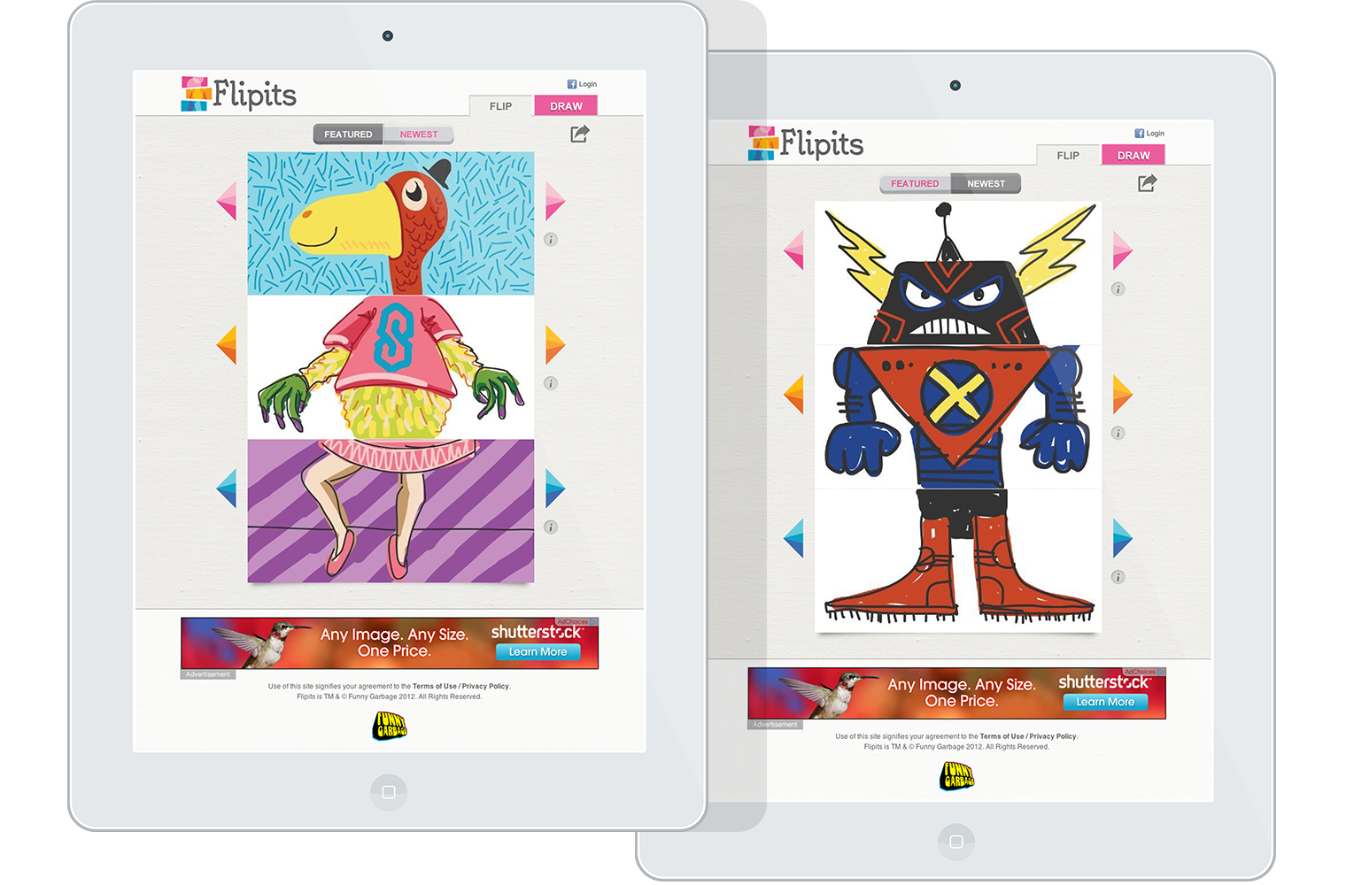 Flip drawing transformation. Draw share play flipits