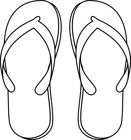 slippers drawing