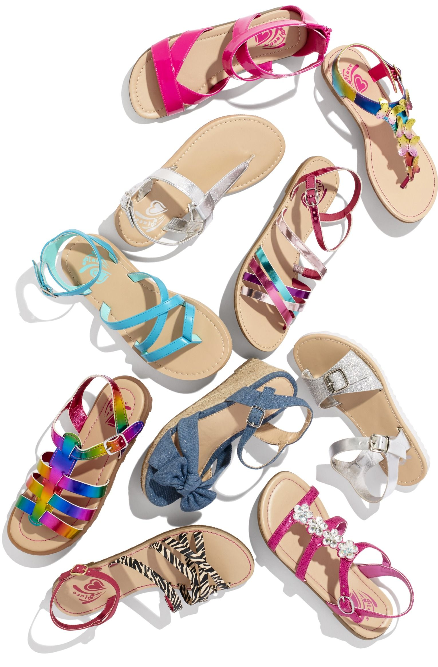 Flip flops clipart girl sandal. Girls sandals kids shoes