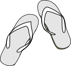 Flip flops clipart summer clothing. Black white clip art
