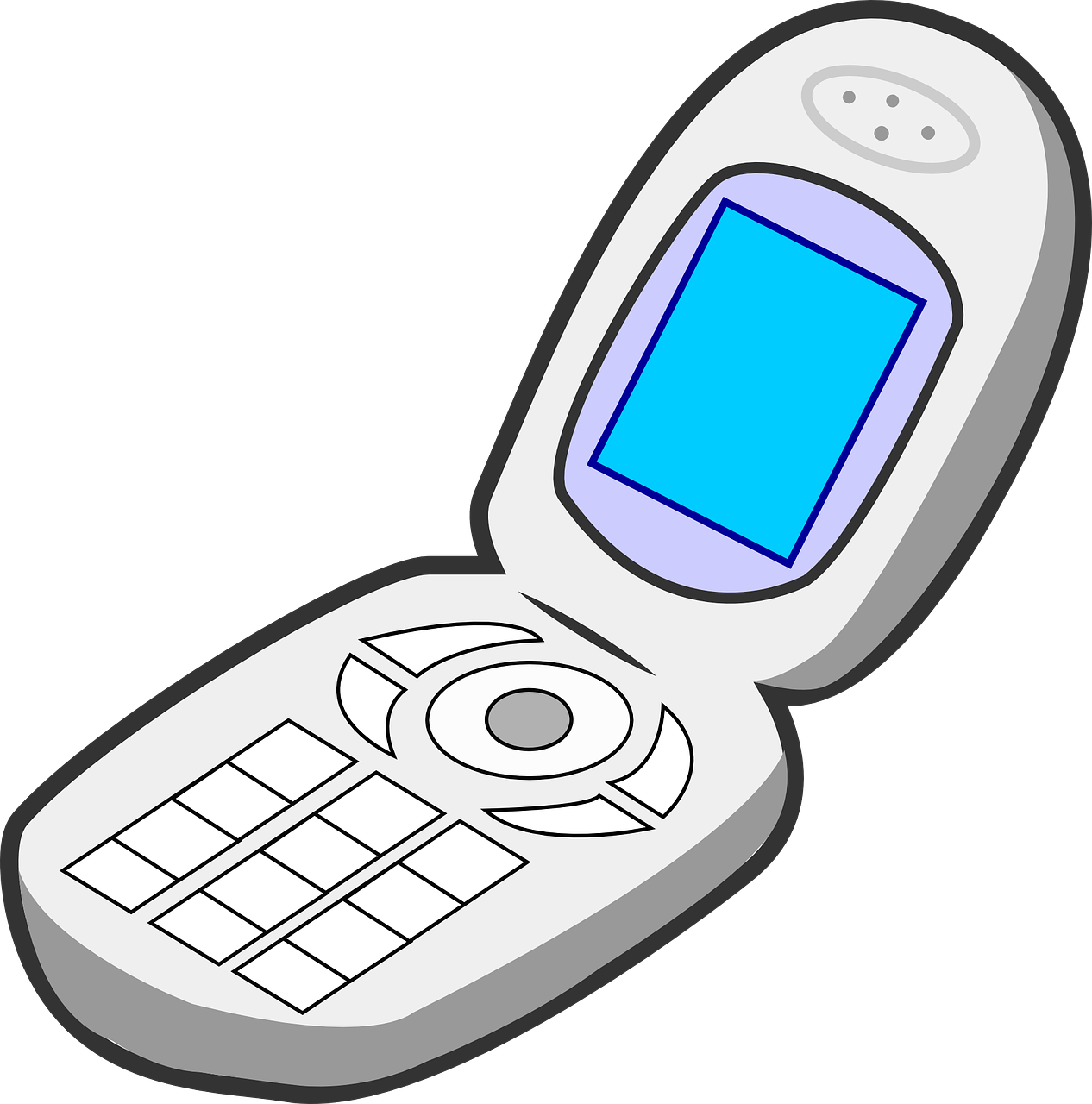 Flip phone png. Phones for the visually
