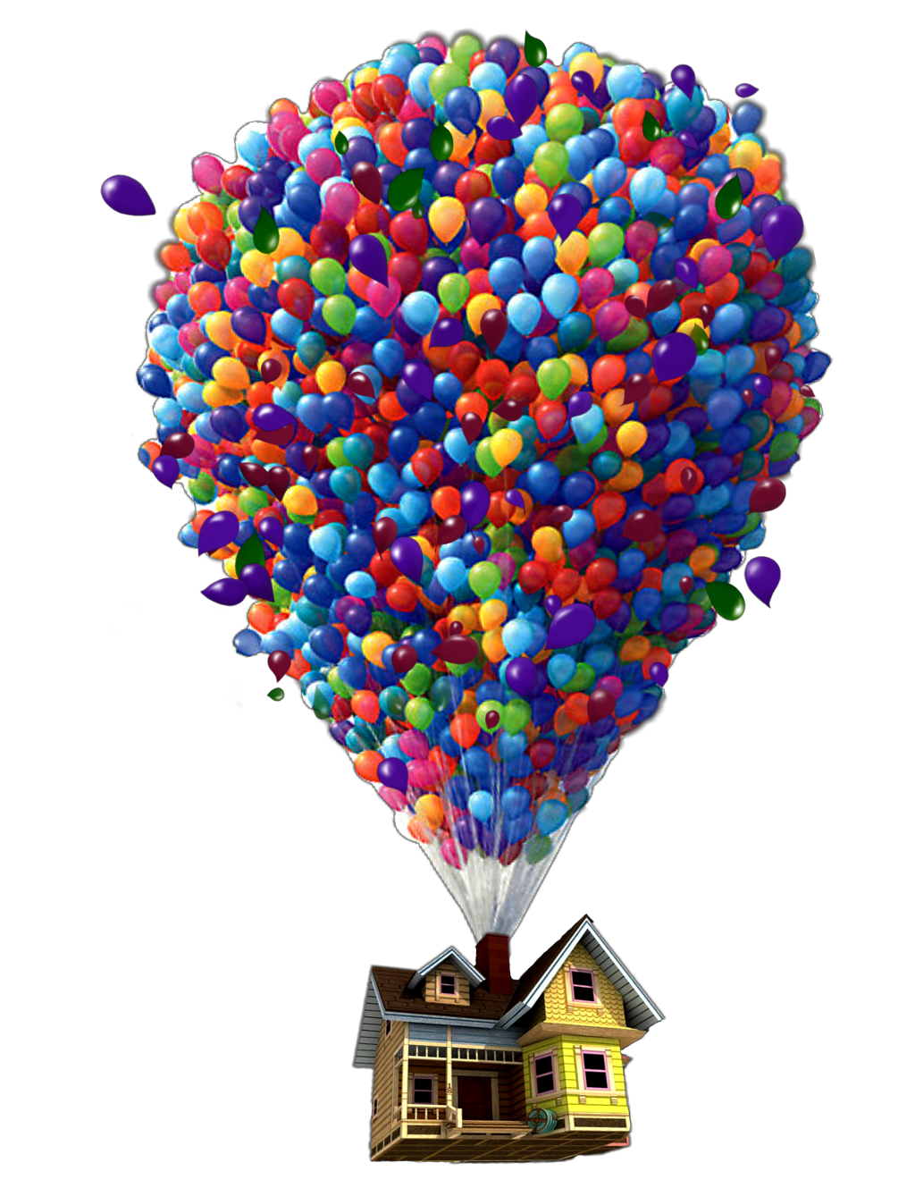 Floating drawing levitation. Ftestickers balloon house danial