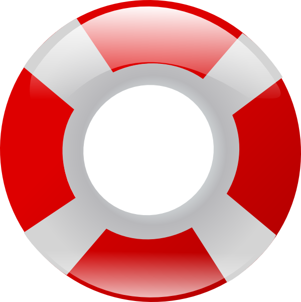 Floating drawing life preserver. Clipart pencil and in