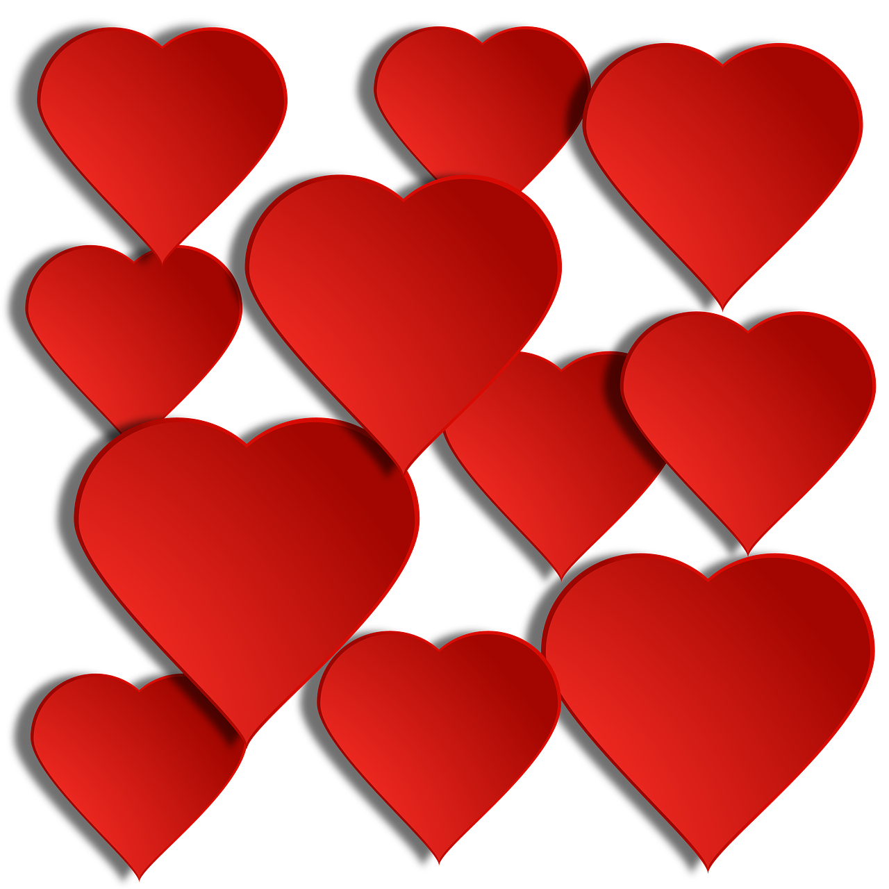 Floating hearts png. Holiday valentines valentine many