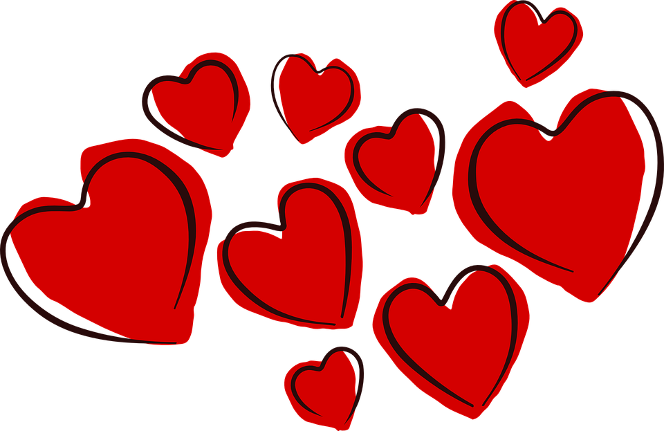 Floating hearts png. Tonia says let s