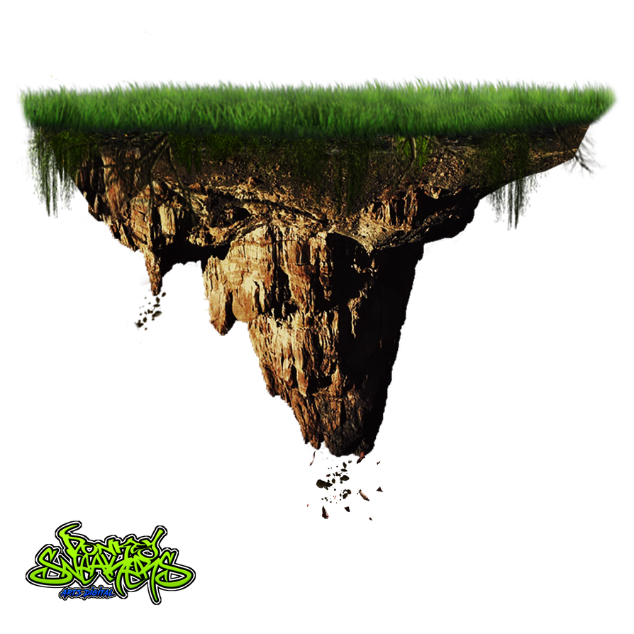 Floating island png. By donkeysneakers on deviantart