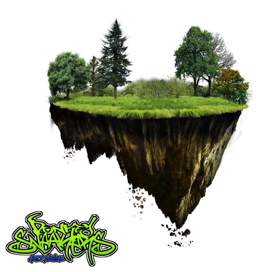 Floating island png. Donkeysneakers by on deviantart