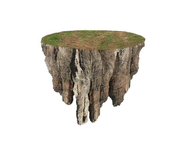 Floating island png. Image free isolated objects