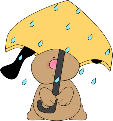 Scene clipart weather. With dog in rain