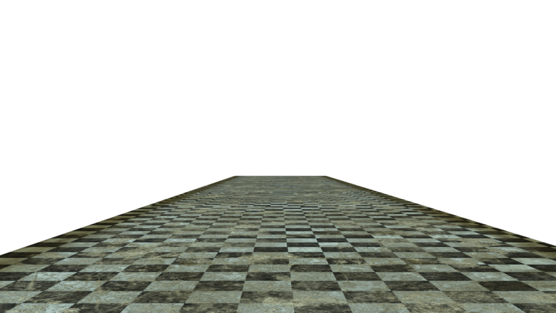 Transparent floor checkerboard. Stock grunge cut out