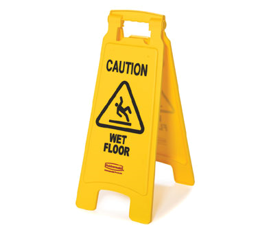 Floor is wet sign png. Safety rubbermaid fg yel