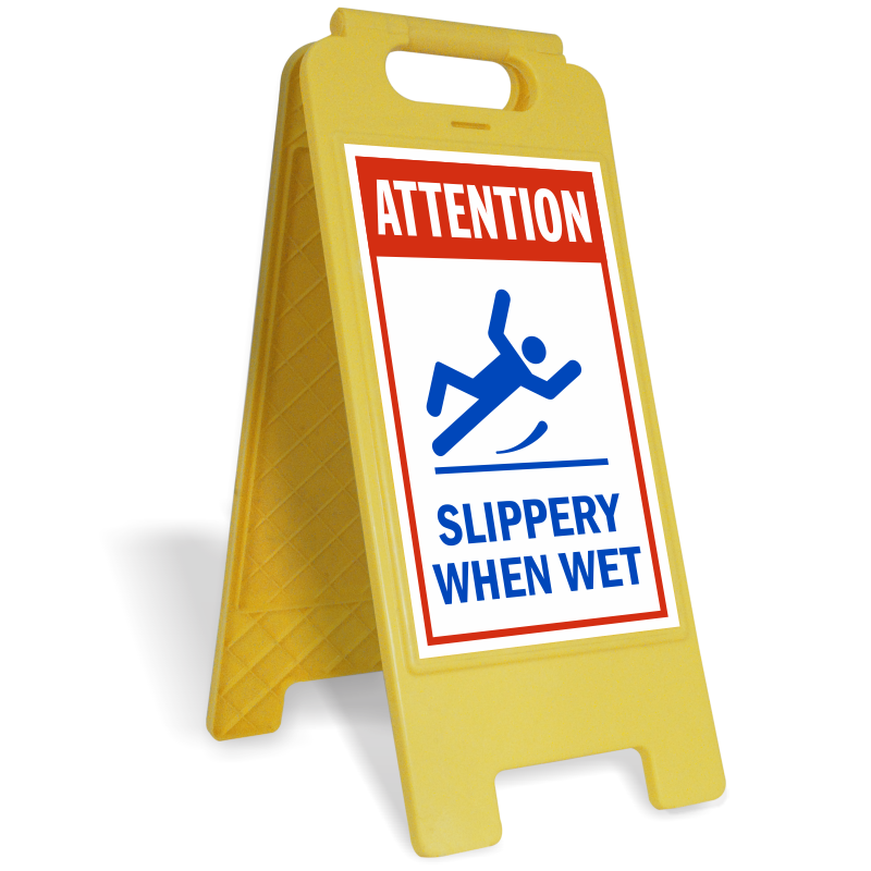 Floor is wet sign png. Slippery when signs safety