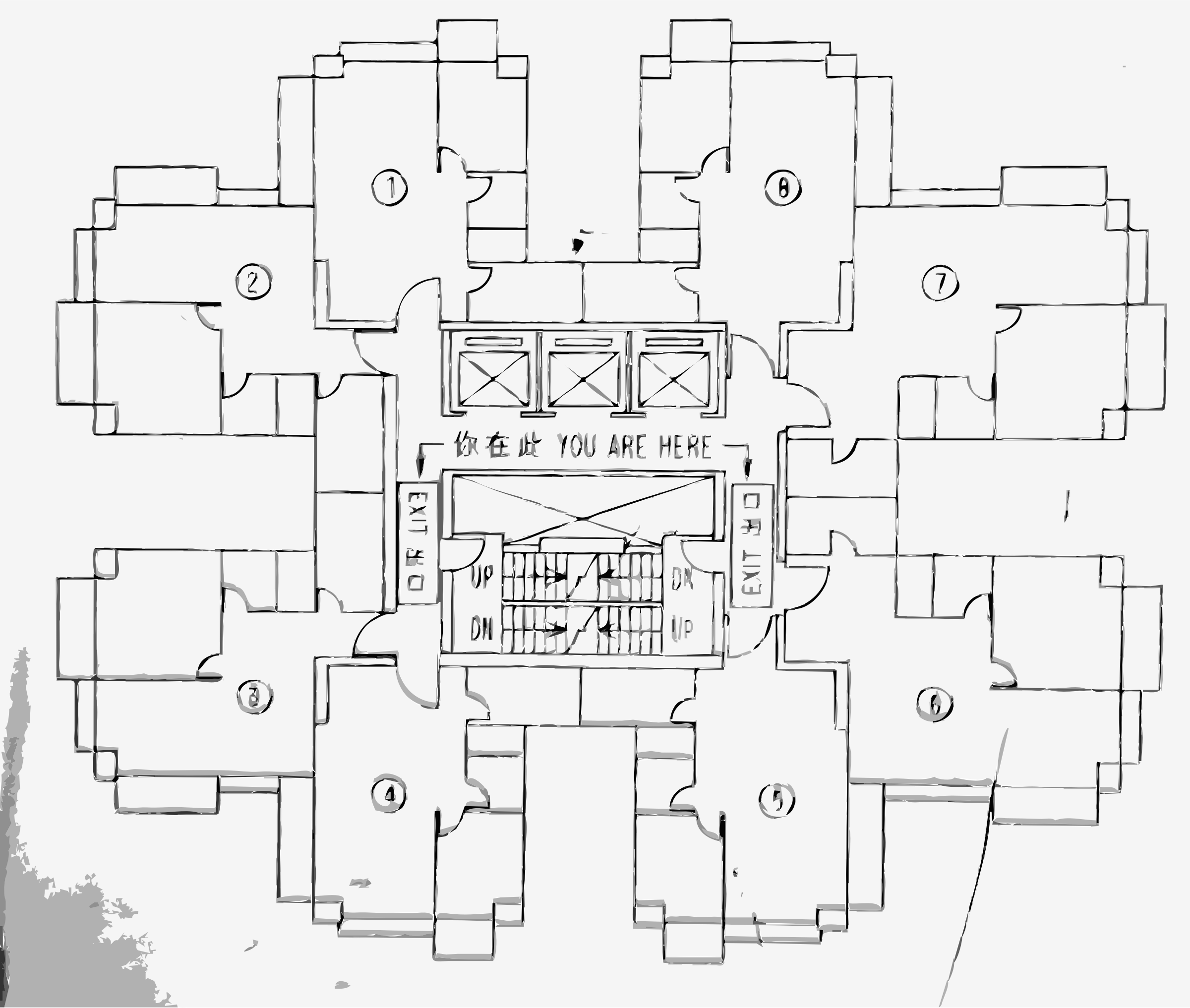 Floor plan png. Architectural icons free and