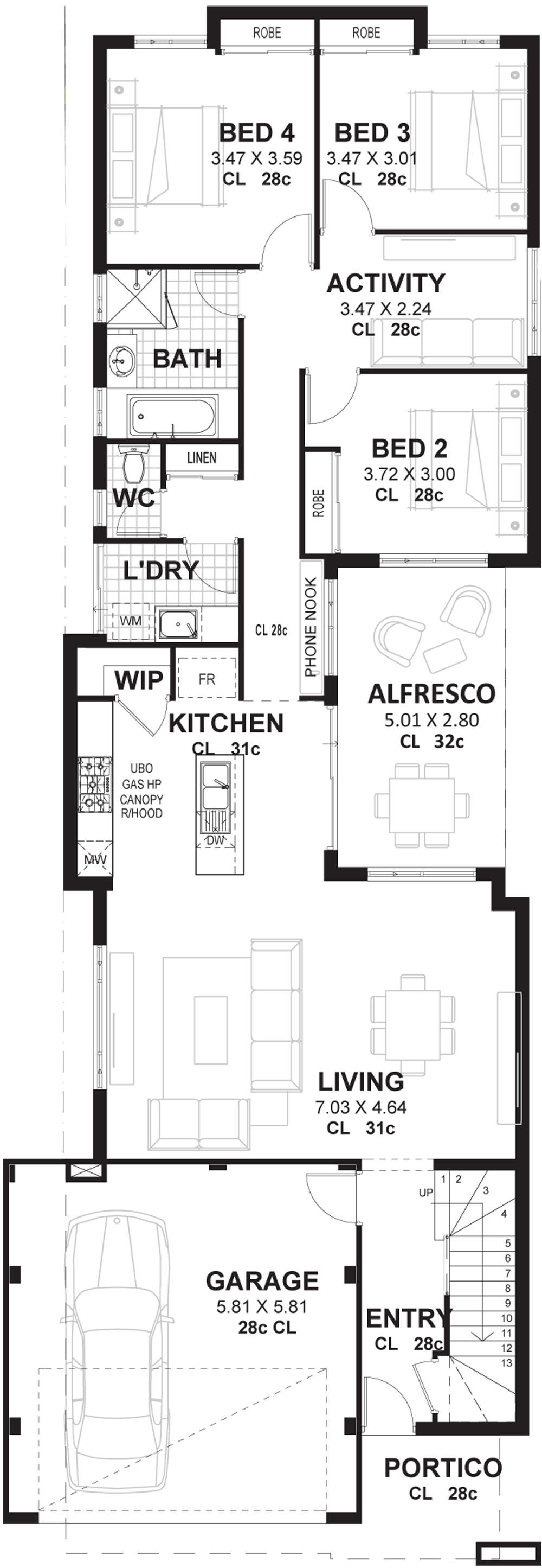 Floor plan with shapes png. M wide house