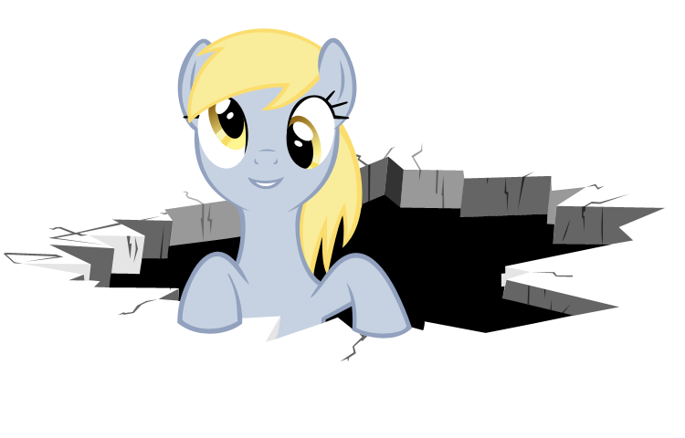 Floor vector animated. Derpy breaking the forth