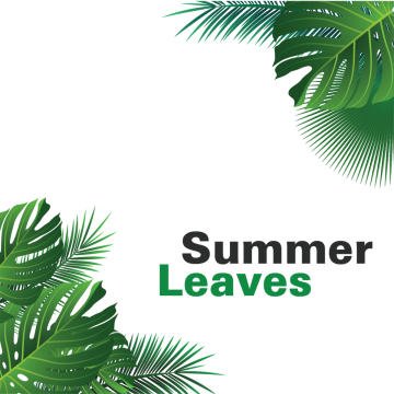 Vector nature forest border. Summer leaves tropical leave