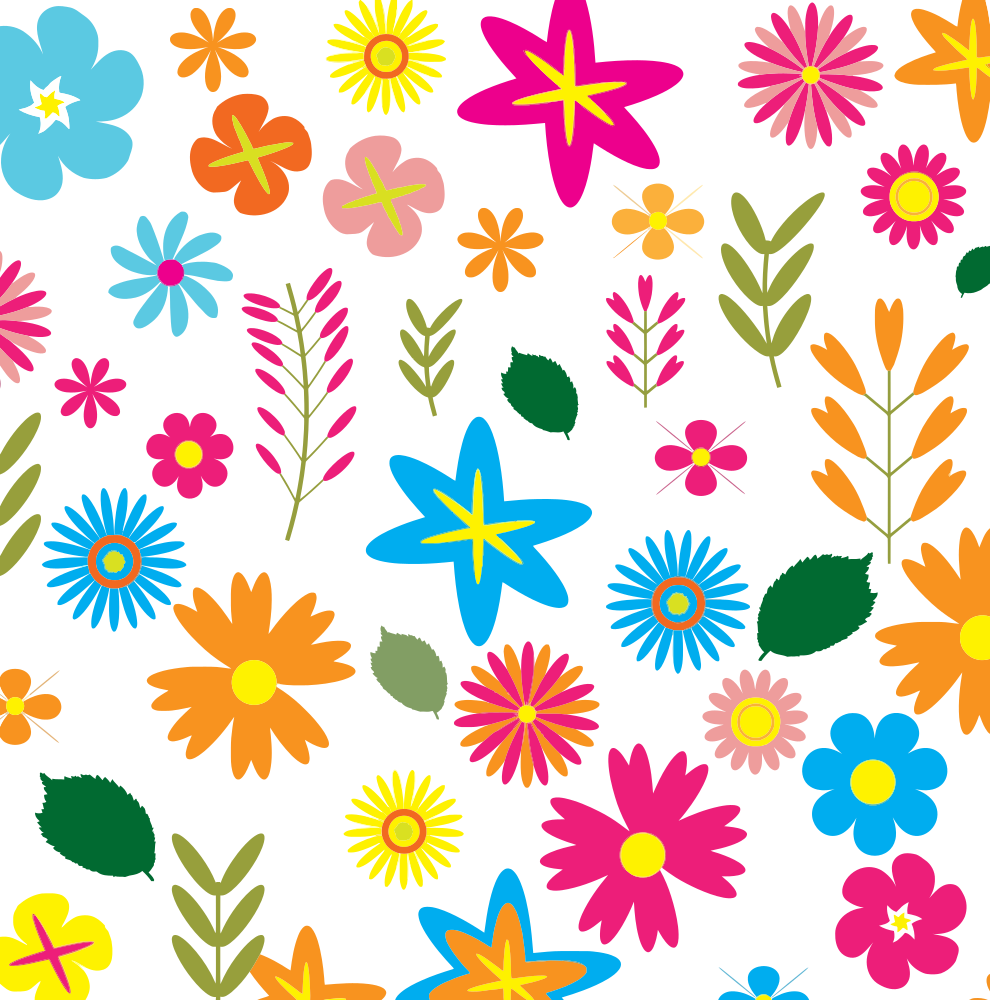 Flower pattern png. Onlinelabels clip art colorful