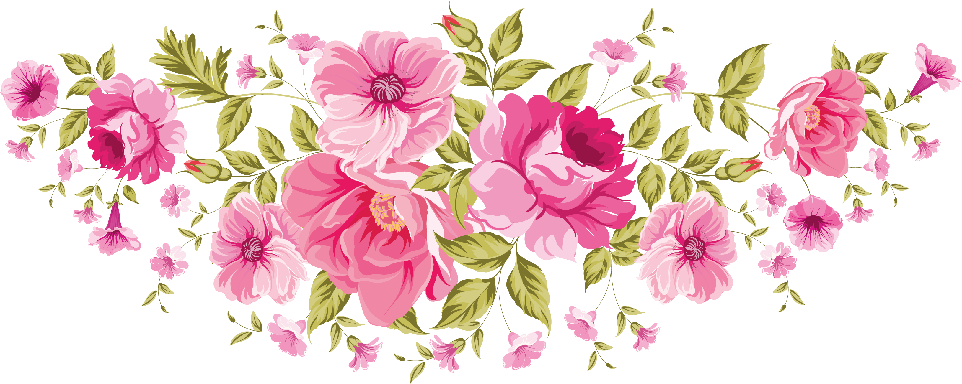 Flowers xxl decoupage pinterest. Floral png svg royalty free