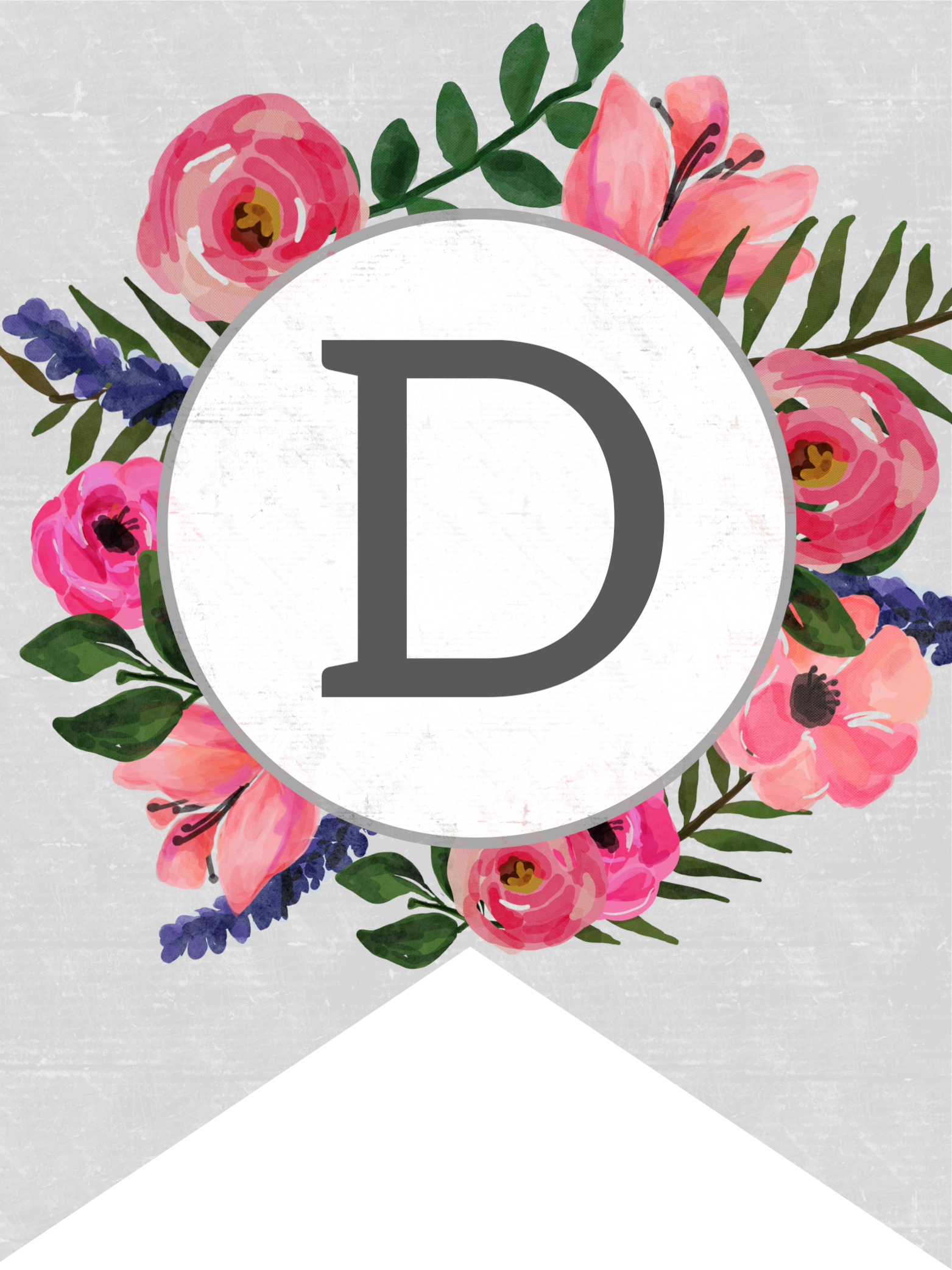 Floral banner png. Alphabet letters free printable