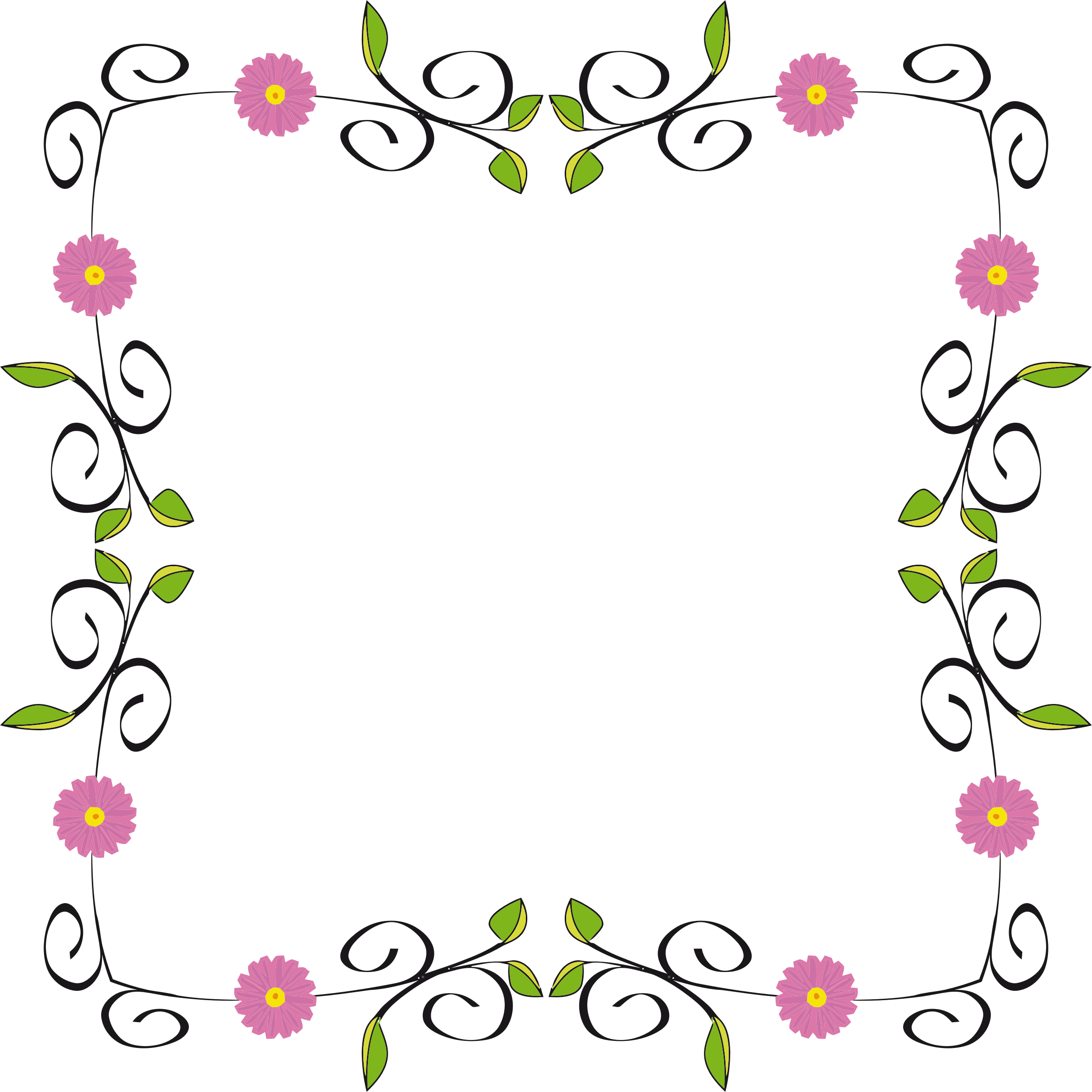 Floral borders png. Border extended icons free
