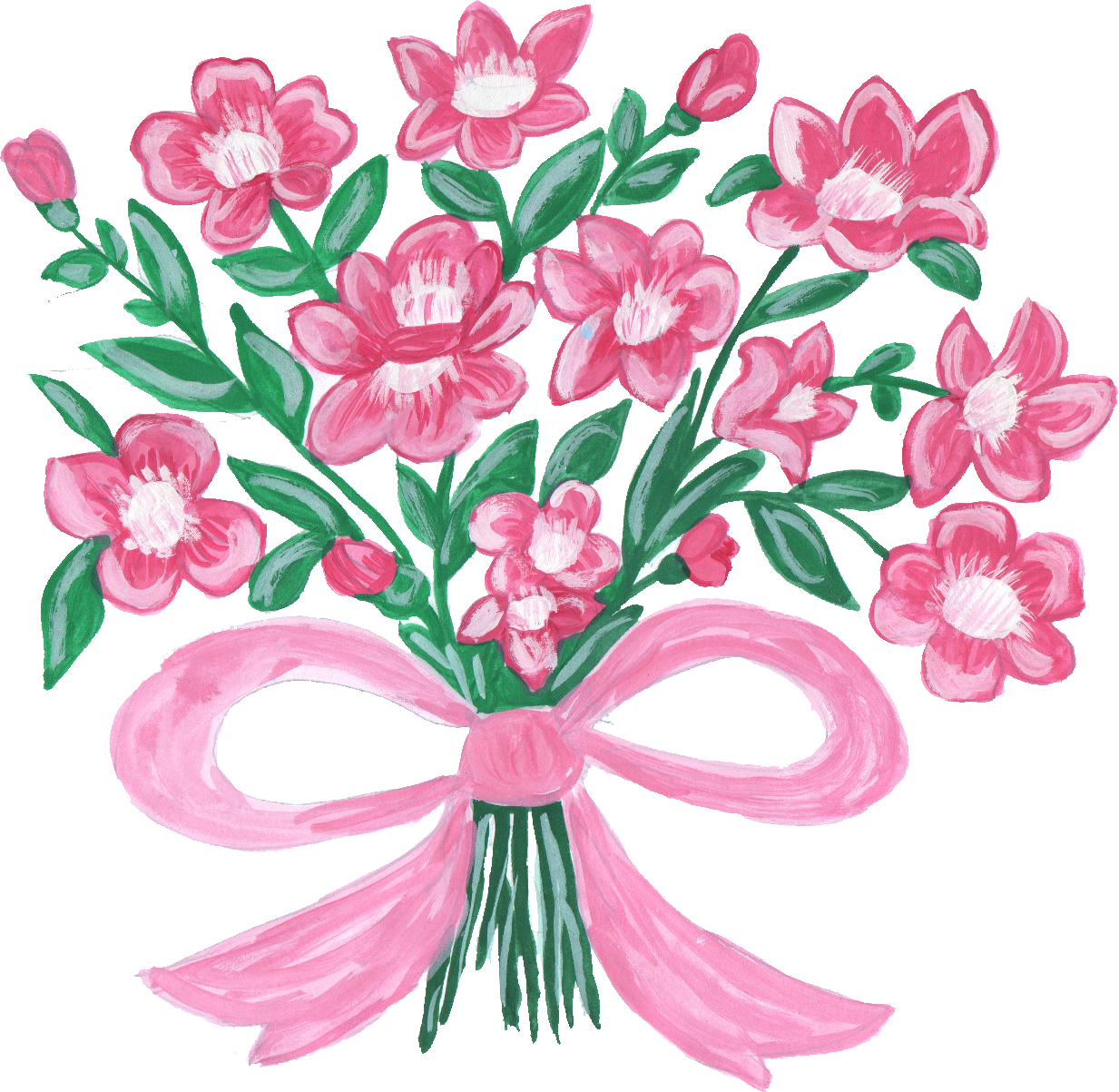 Floral bouquet png. Flower transparent onlygfx