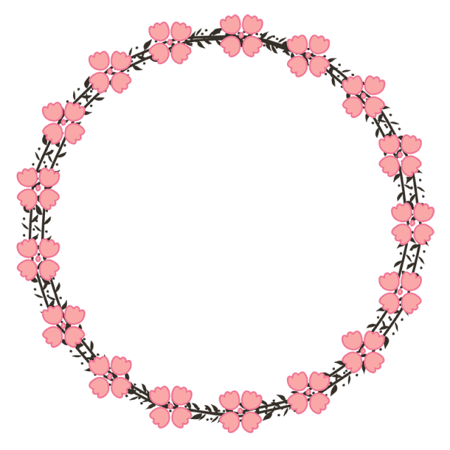 Floral circle png. Beautiful pink wreath save