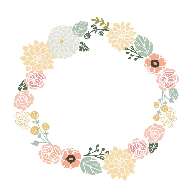 Floral clipart circle. Best frame images