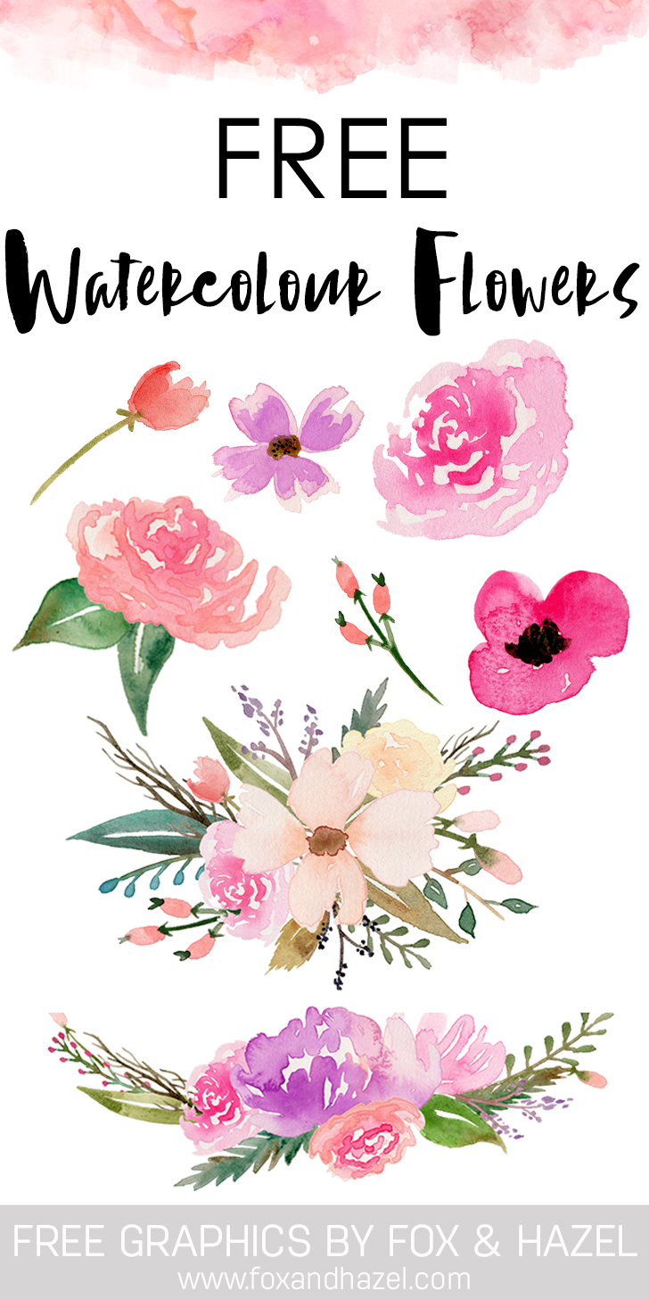 Floral clipart fox. A collection of free