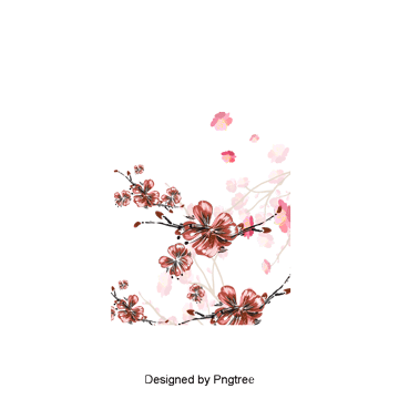 Cherry blossom flower png. Hand drawn flowers vectors