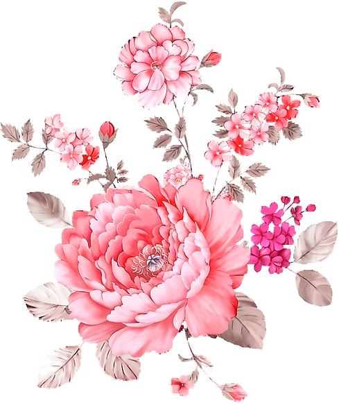Floral clipart hand drawn. Flower prints mary art