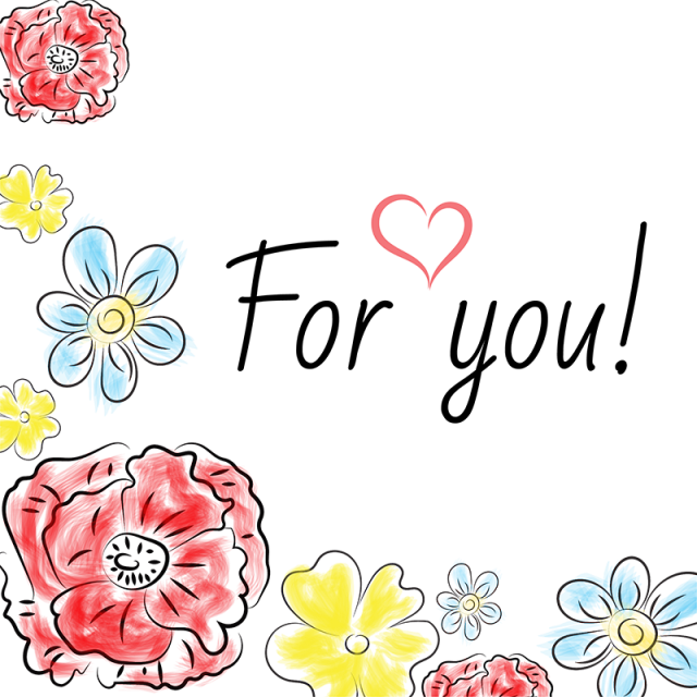 Floral clipart hand drawn. Colored background handdrawn illustration