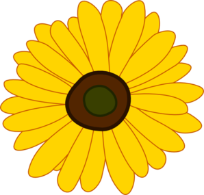 Sunflower clipart diagram. Clip art at clker