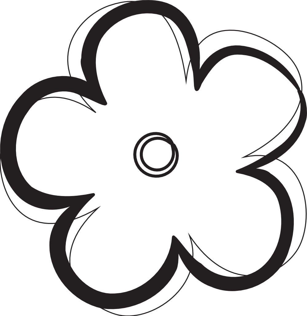 Black and white flower png. Free images download clip