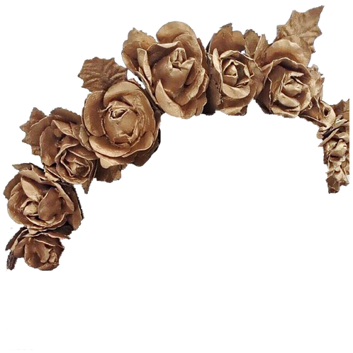 Floral crown png. Marigold a stunning gold