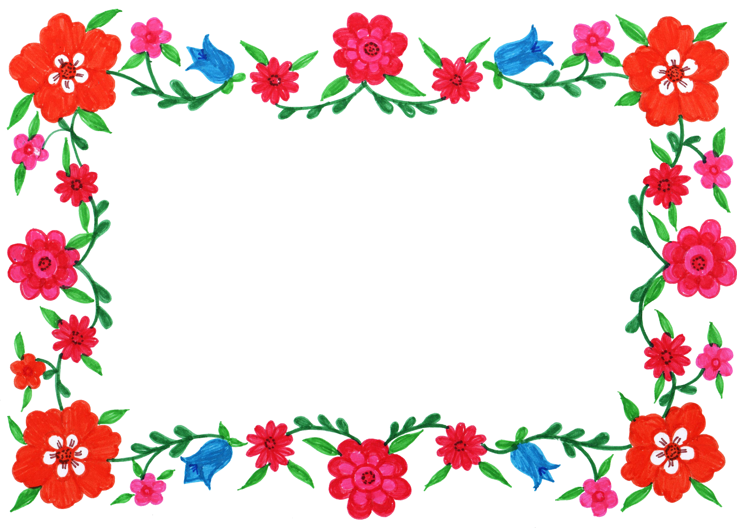 Floral frame png. Design flower perfect inside