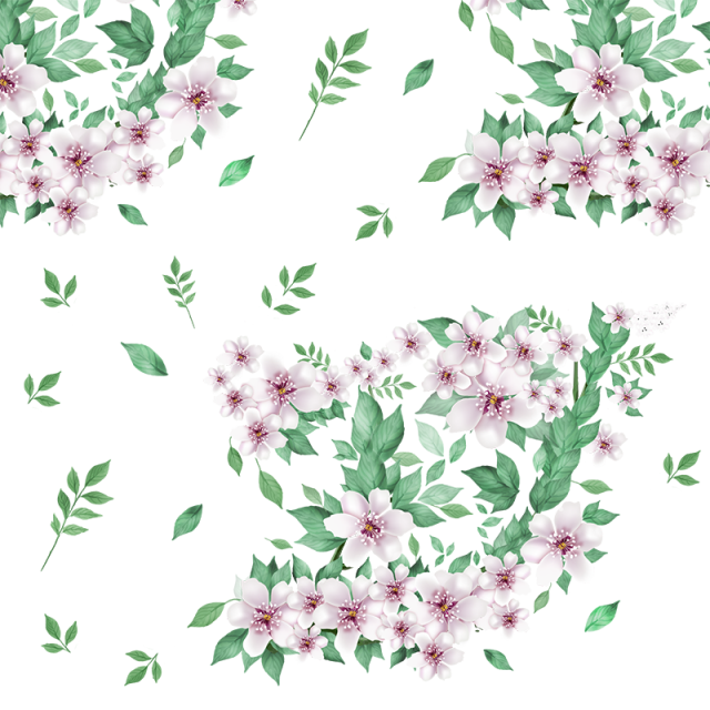 Floral flowers png. Beautiful with green leaf