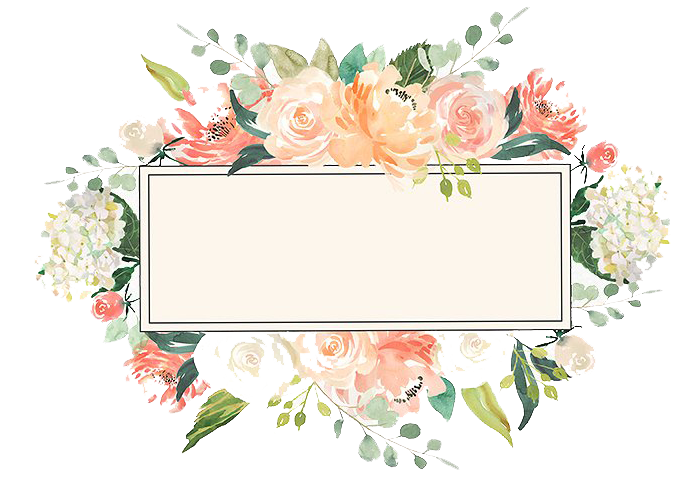 Floral frame png. Watercolor image vector clipart
