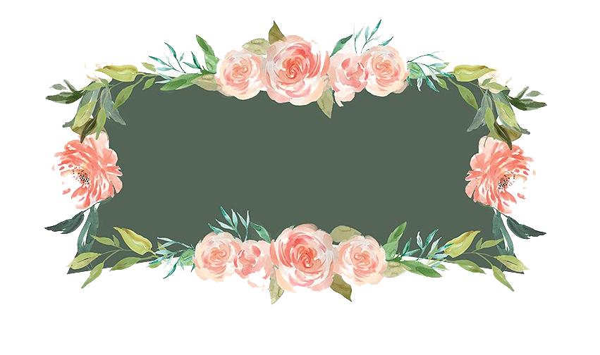 Floral frame png. Free watercolor peoplepng com