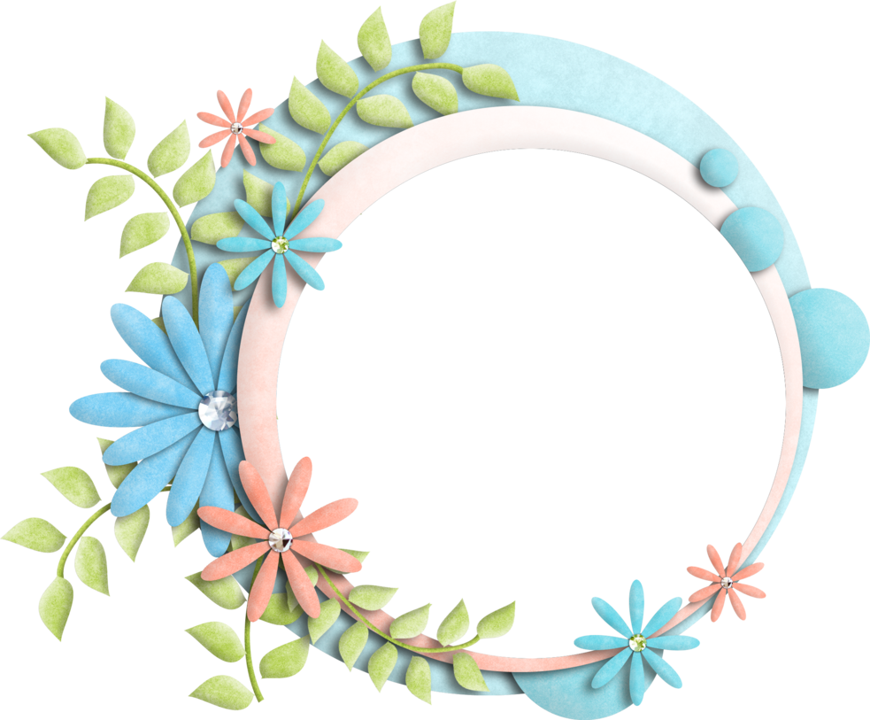 Floral frames png. Frame by kwonnami on