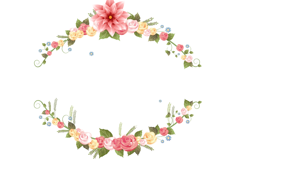 Floral garland png. Wedding invitation flower picture