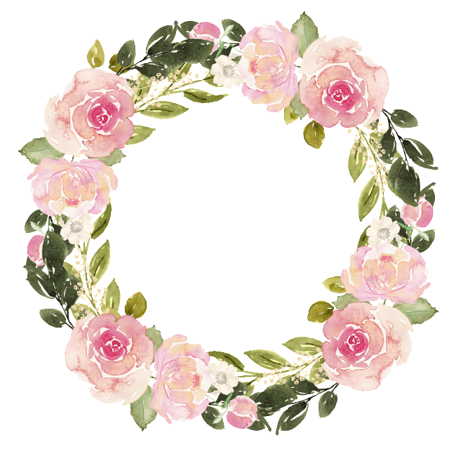 Free matting material. Watercolor wreath flower png clip library library