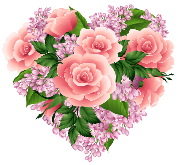 Floral heart png. Clipart image gallery yopriceville