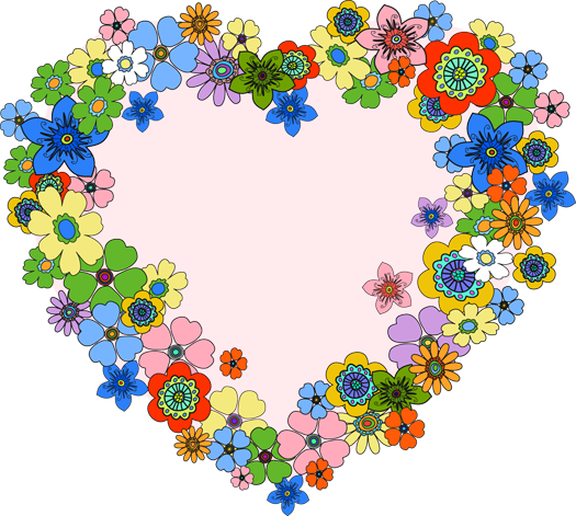 Floral heart png. By hanabell on deviantart