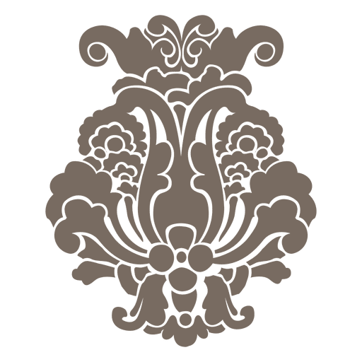 Decorative flower transparent png. It vector ornament png royalty free