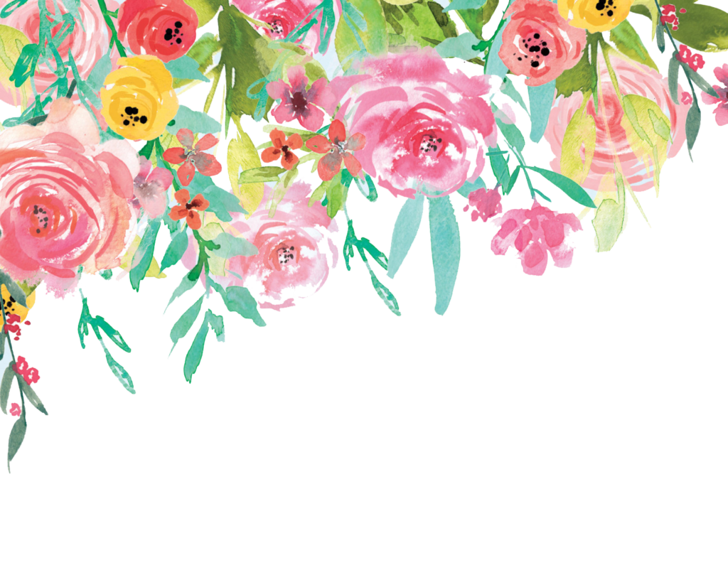 Floral pattern png. Seamless vector clipart psd