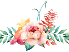 Flower watercolor png. Flowers vector clipart psd