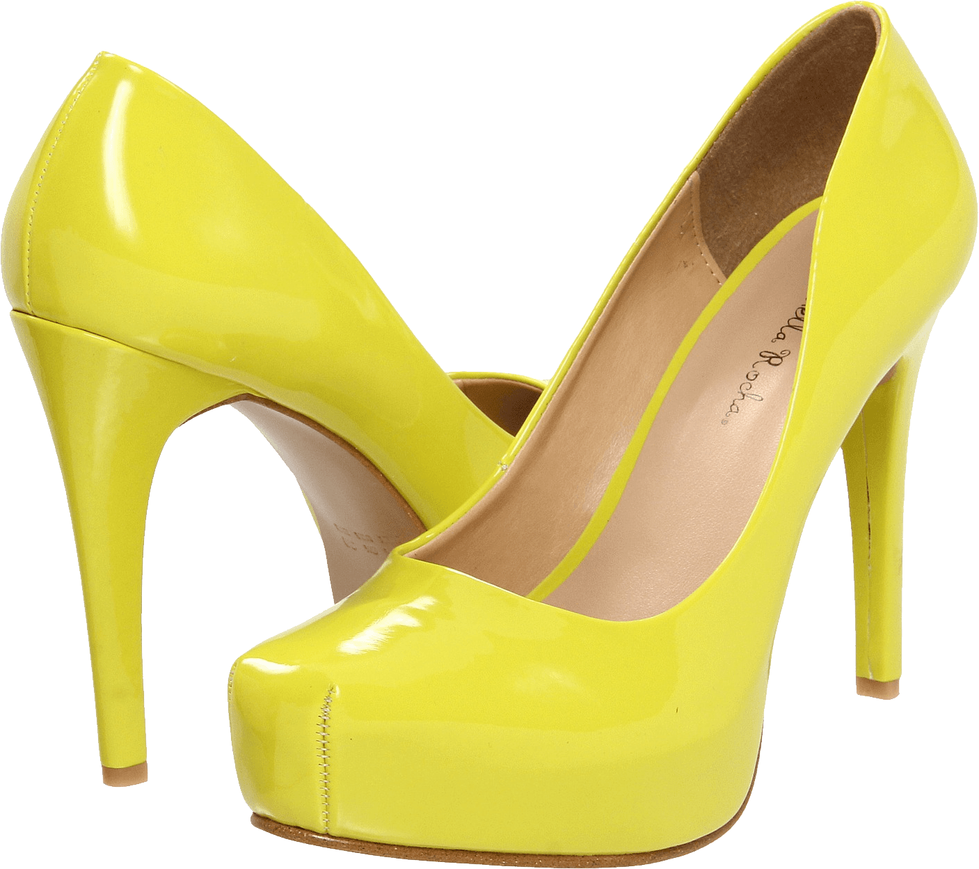 Floral shoe png. Download yellow women shoes