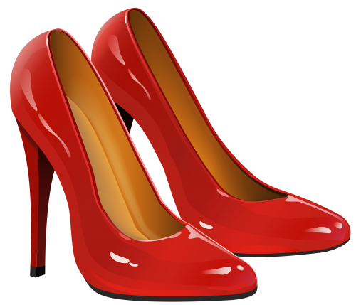 Floral shoe png. Red heels clipart titi