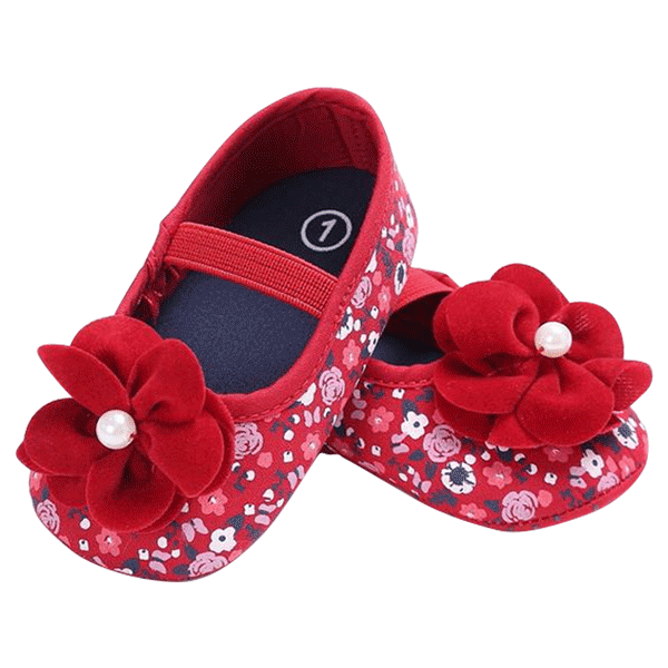Floral shoe png. Baby girl shoes petite